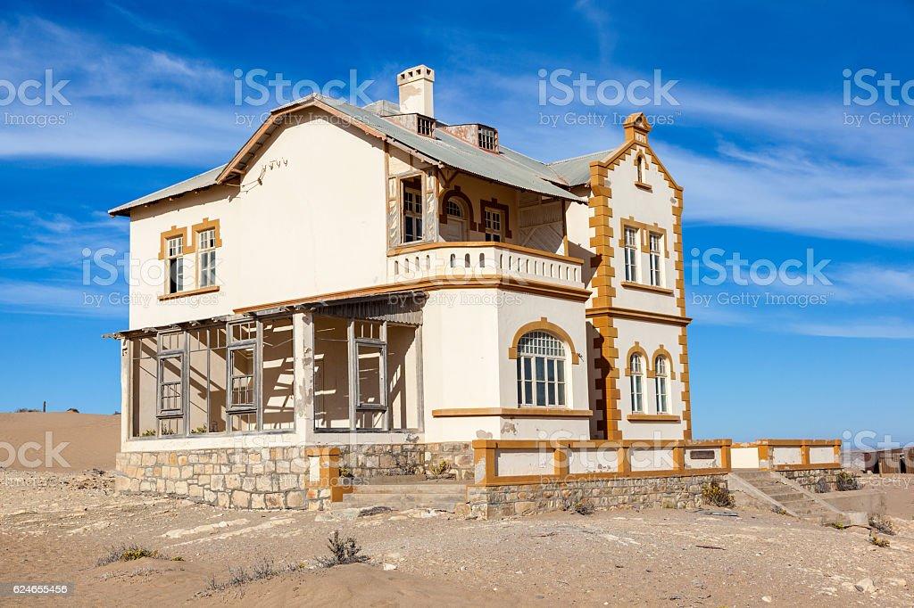 House at Kolmanskop stock photo