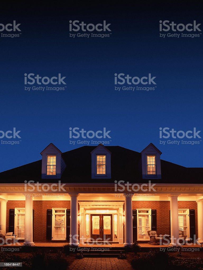 House at Night royalty-free stock photo