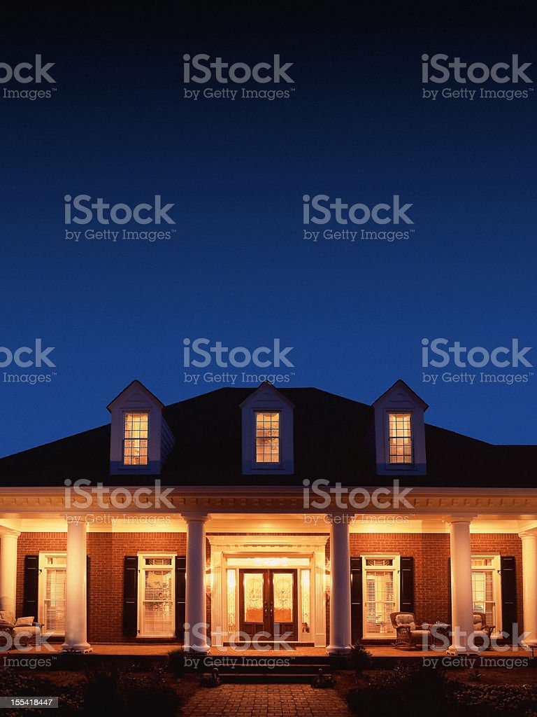 House at Night stock photo