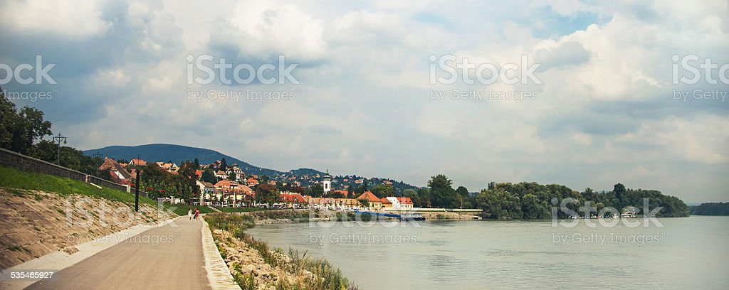 SZENTENDRE, HUNGARY,  house at steet in summer stock photo