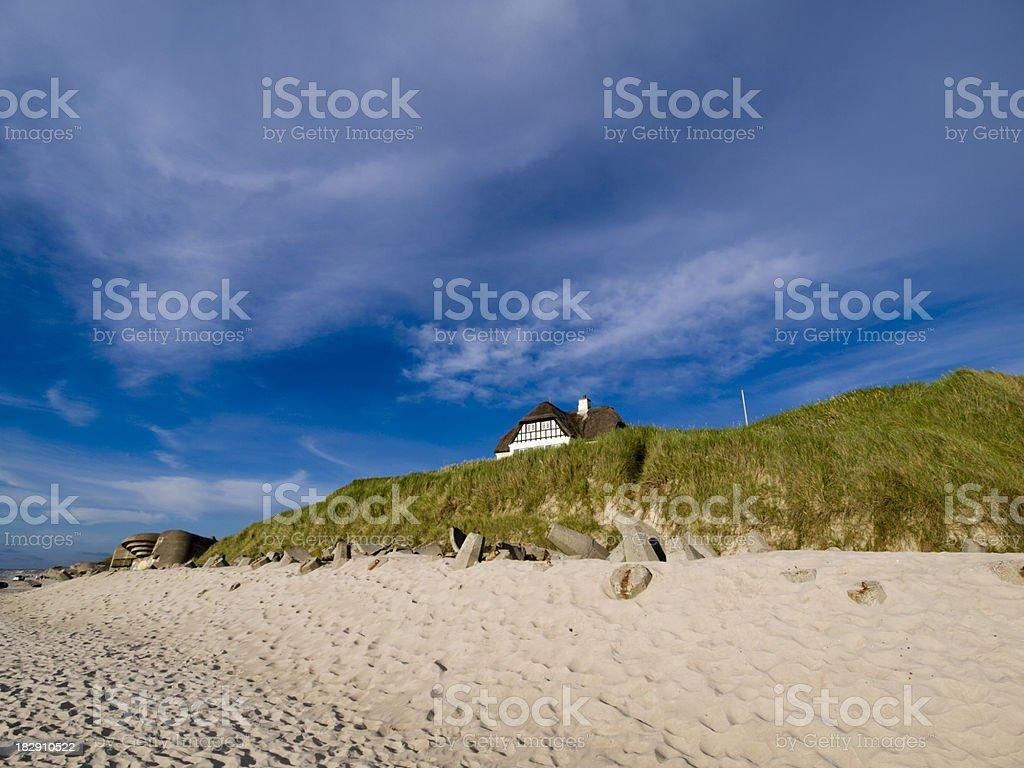 House at the Danish west coast royalty-free stock photo