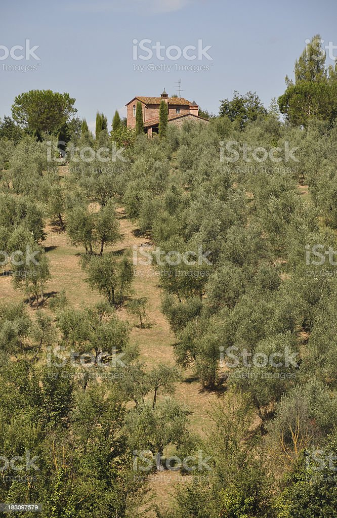House at Tuscany stock photo