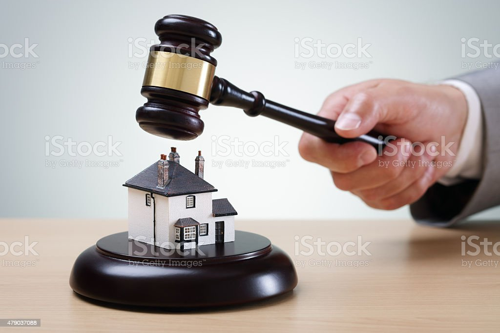 House auction stock photo