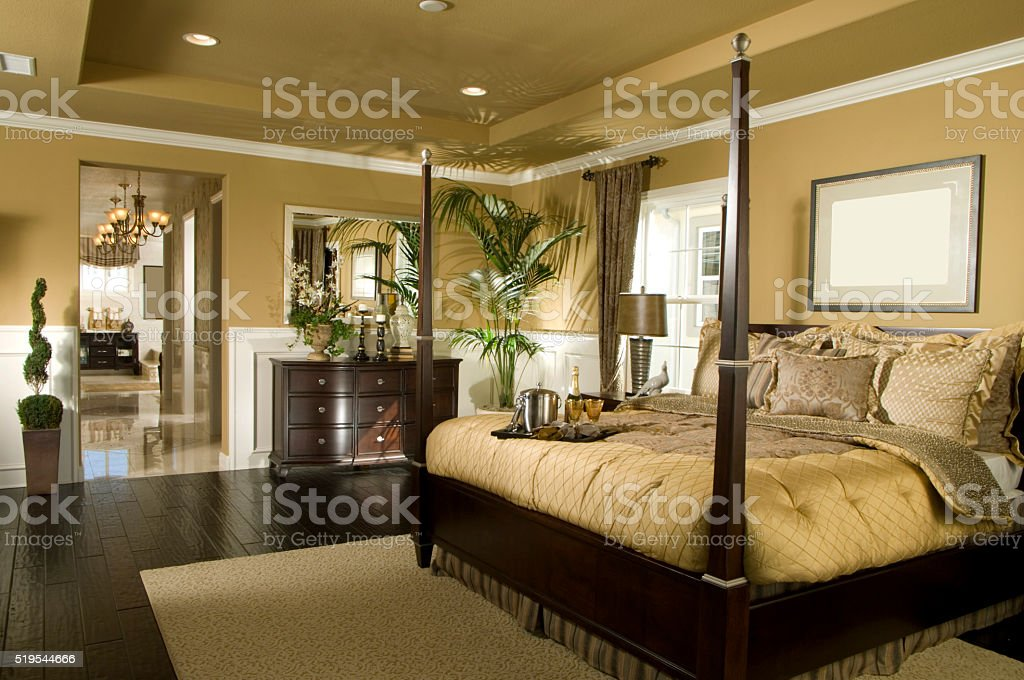 House Bed Room Interior Design Home stock photo