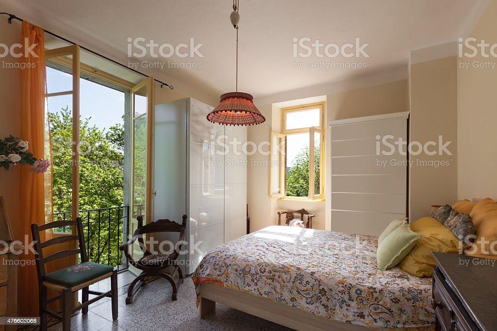 house, bedroom stock photo