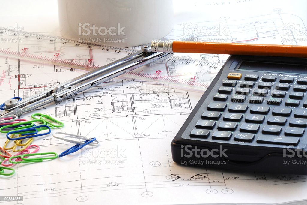 House blueprint royalty-free stock photo