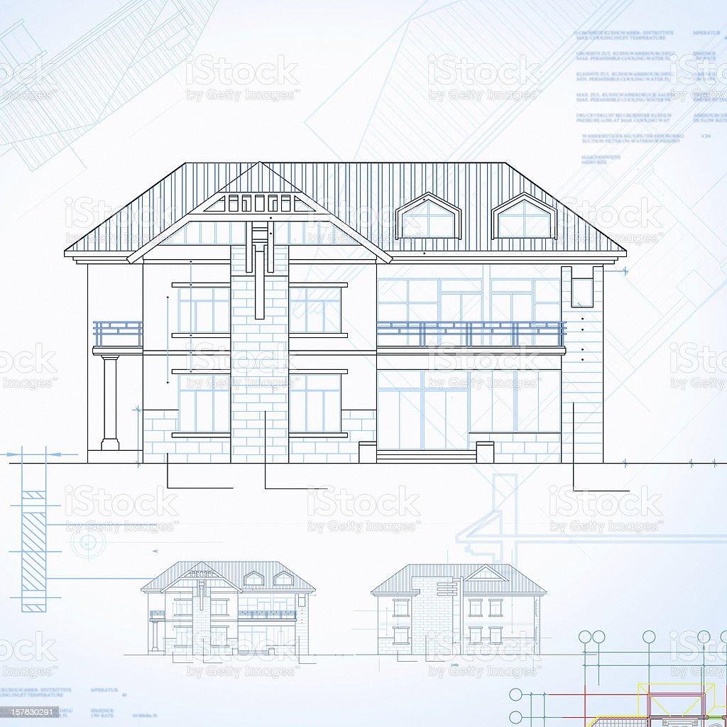 Immobilien Haus Blueprint Design U2013 Foto