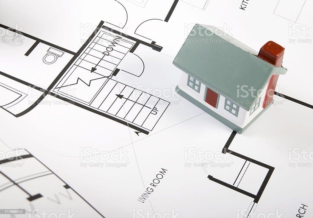 House blueprints stock photo