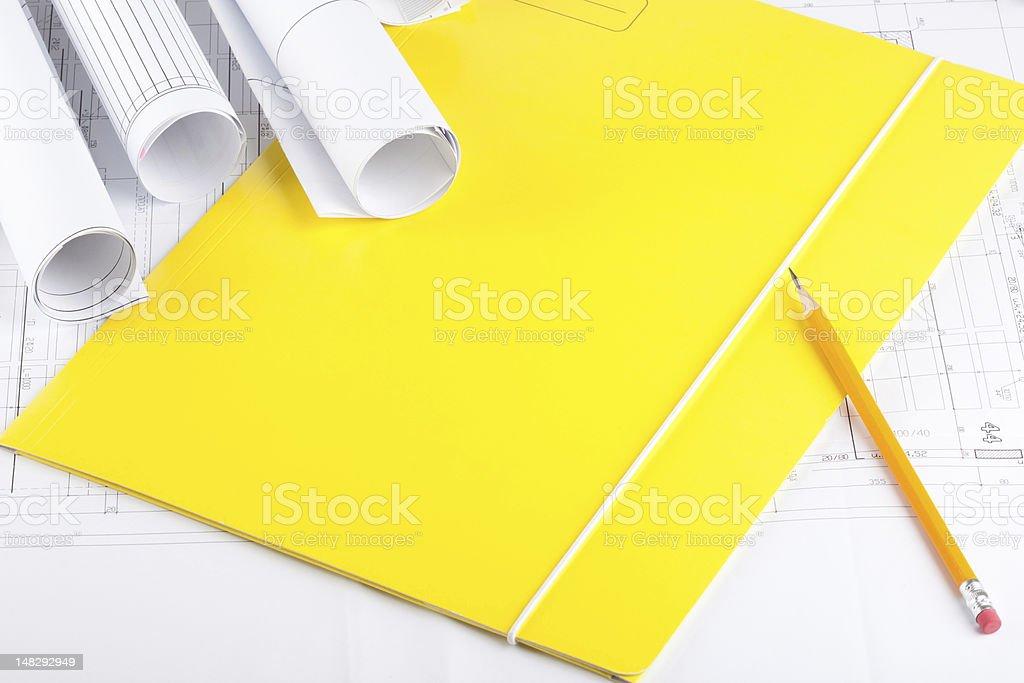 House blueprints royalty-free stock photo