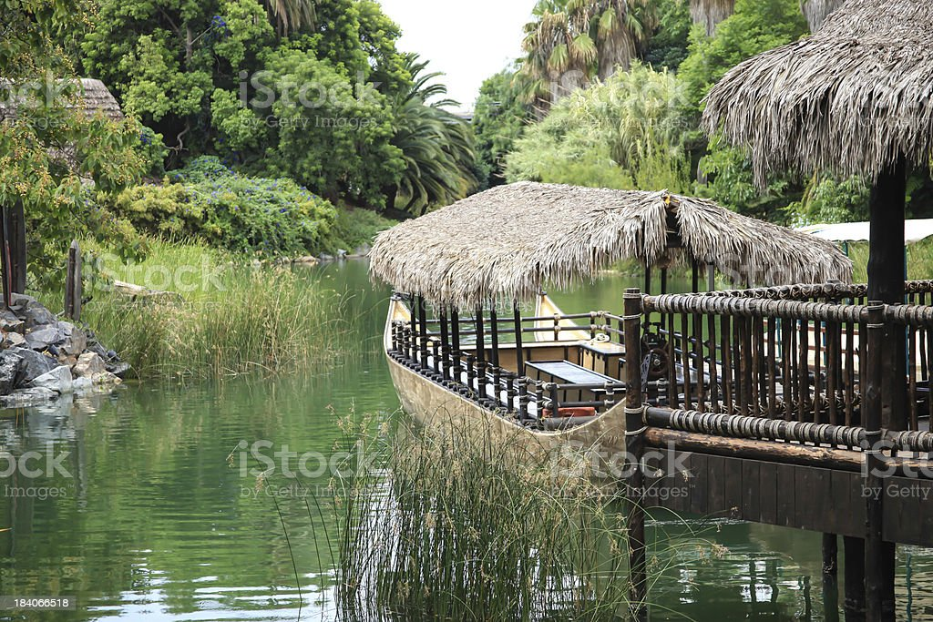 House boat in backwaters royalty-free stock photo