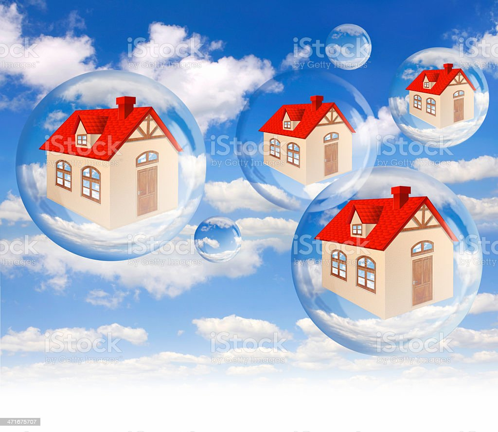 House bubble on the background blue sky stock photo