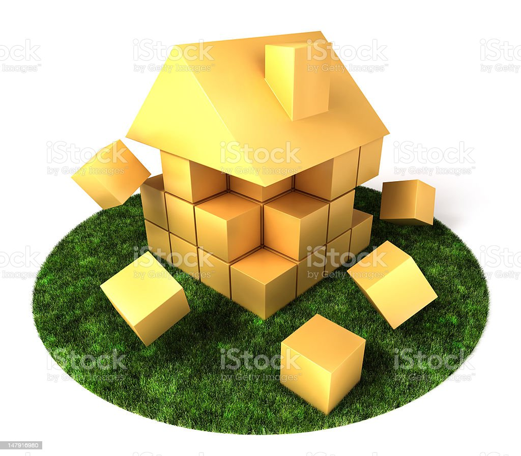 House Building in Garden royalty-free stock photo