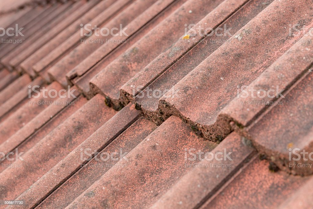 house building roof tiles stock photo