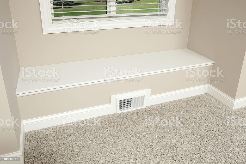 House Built-in Bench Detail stock photo