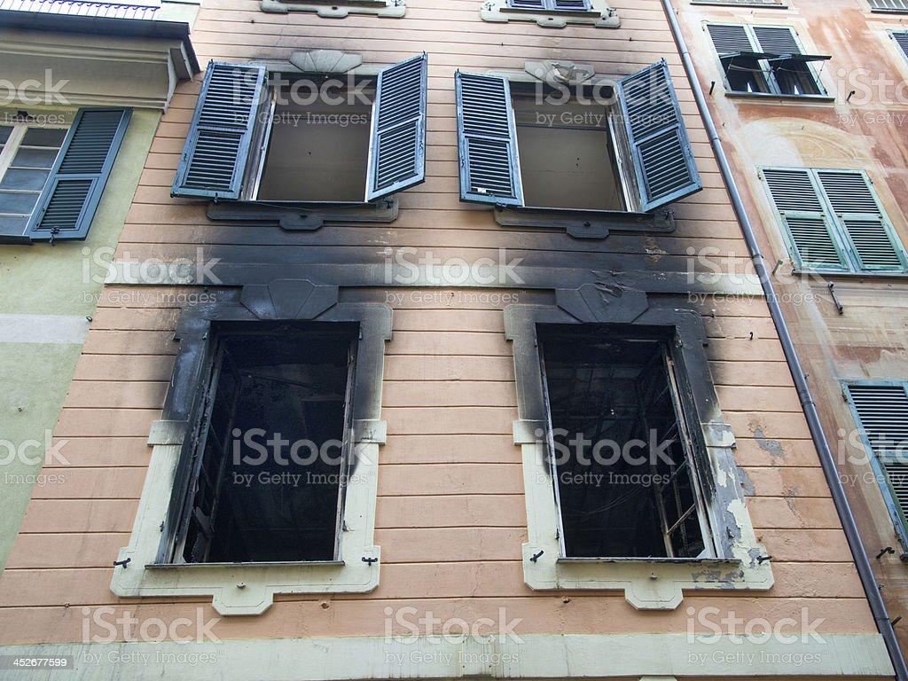 House burned royalty-free stock photo