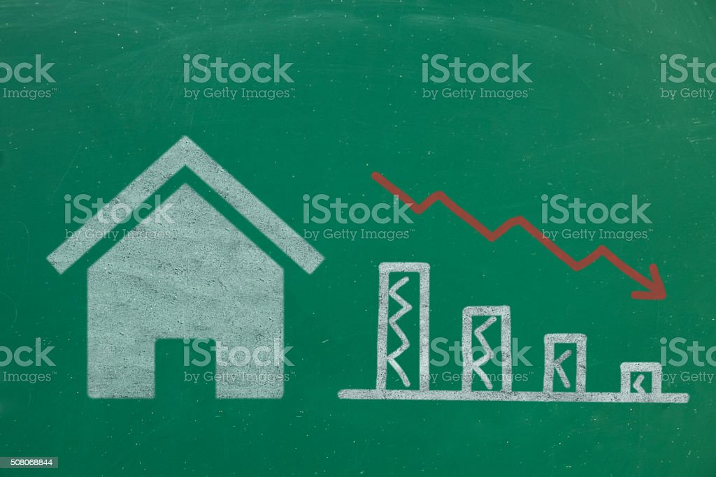 house buy or sell concept stock photo