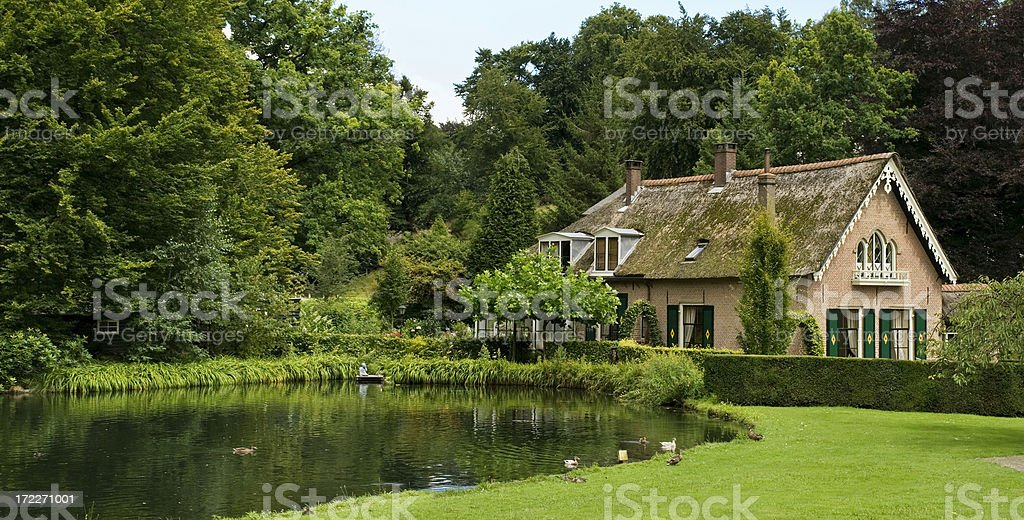 House by a Pond stock photo