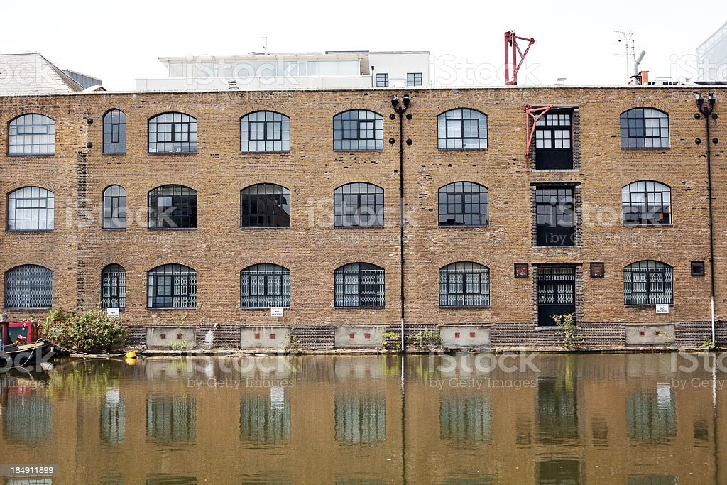 house by the canal royalty-free stock photo
