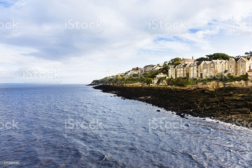House by the coast royalty-free stock photo