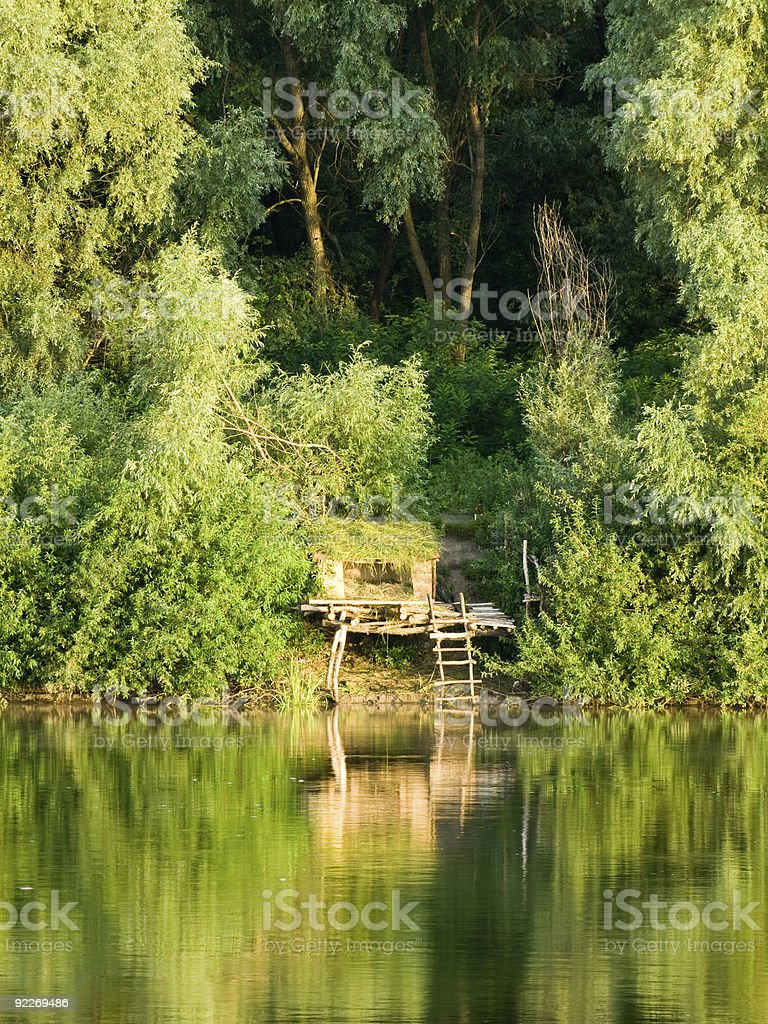 House by the River royalty-free stock photo