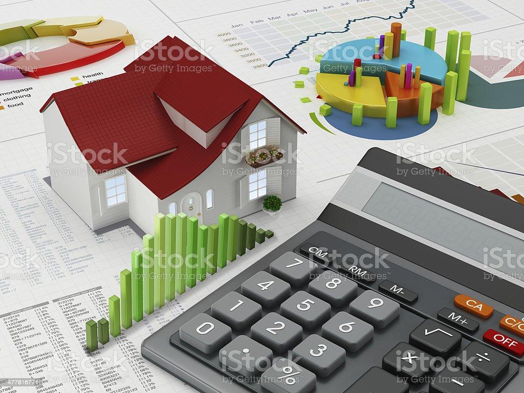 House calculator stock photo