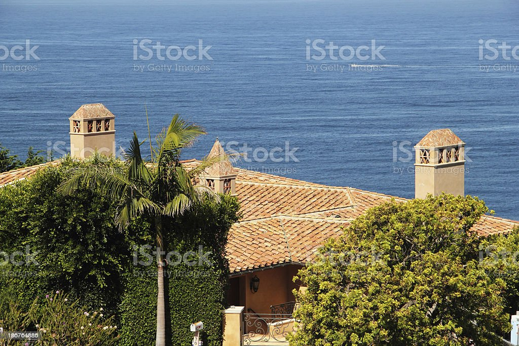 House California Pacific Ocean stock photo