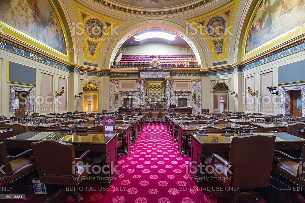 House Chamber in St. Paul, MN stock photo