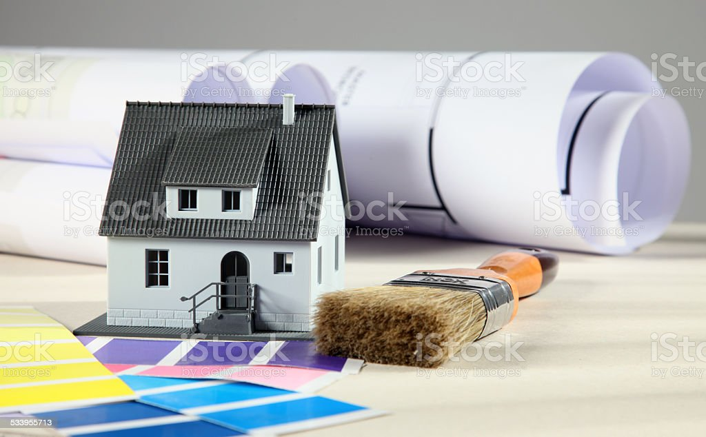 House colors stock photo