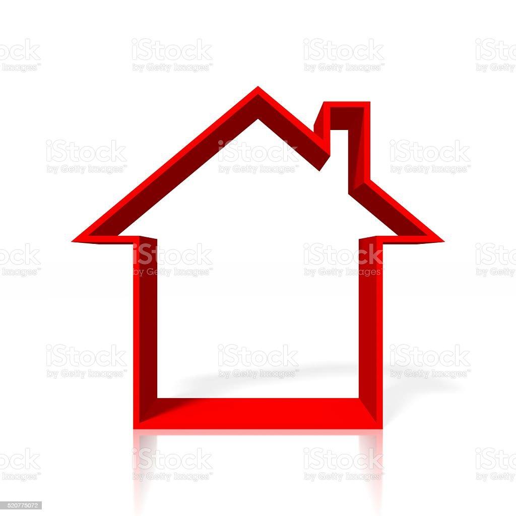 3D house concept stock photo