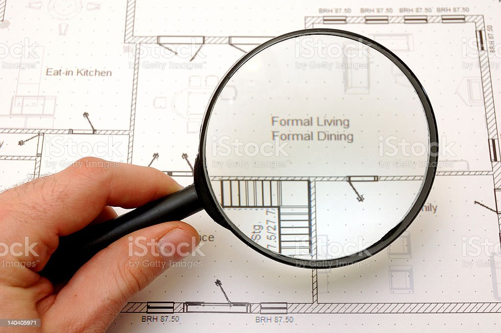 House construction plans royalty-free stock photo