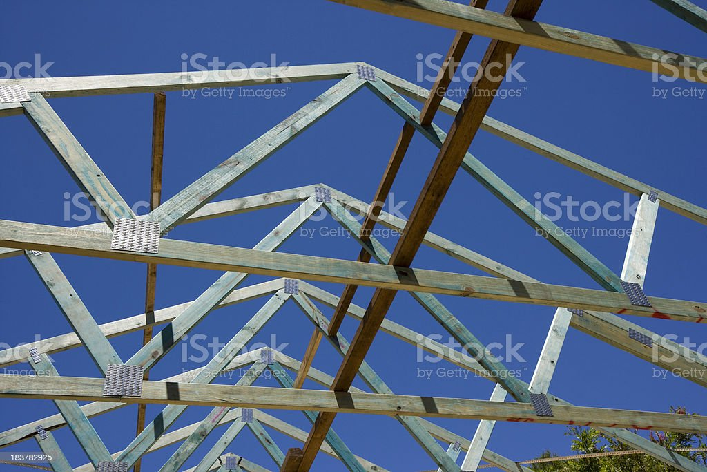 House Construction: roof stock photo