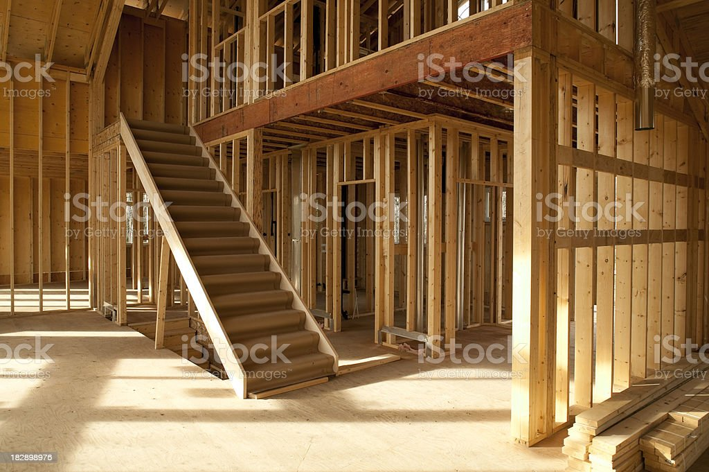 house construction site stock photo