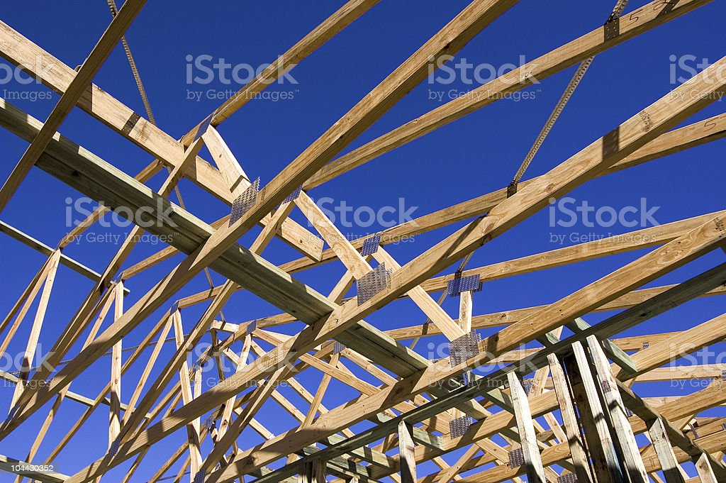House Construction Timber Frame royalty-free stock photo