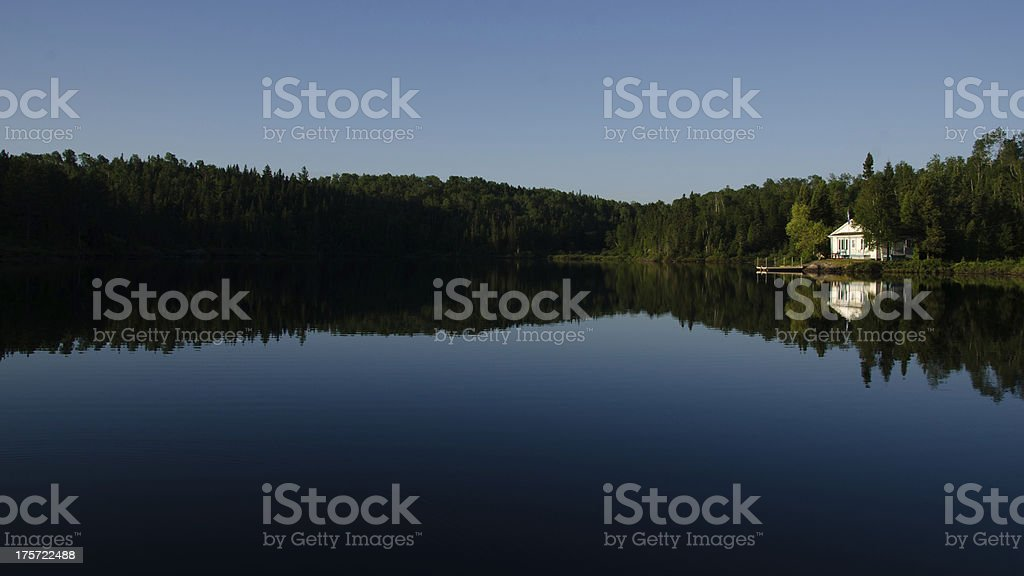House, Cottage Lake, Reflections, Water, Forest, Quiet, Rural Scene royalty-free stock photo