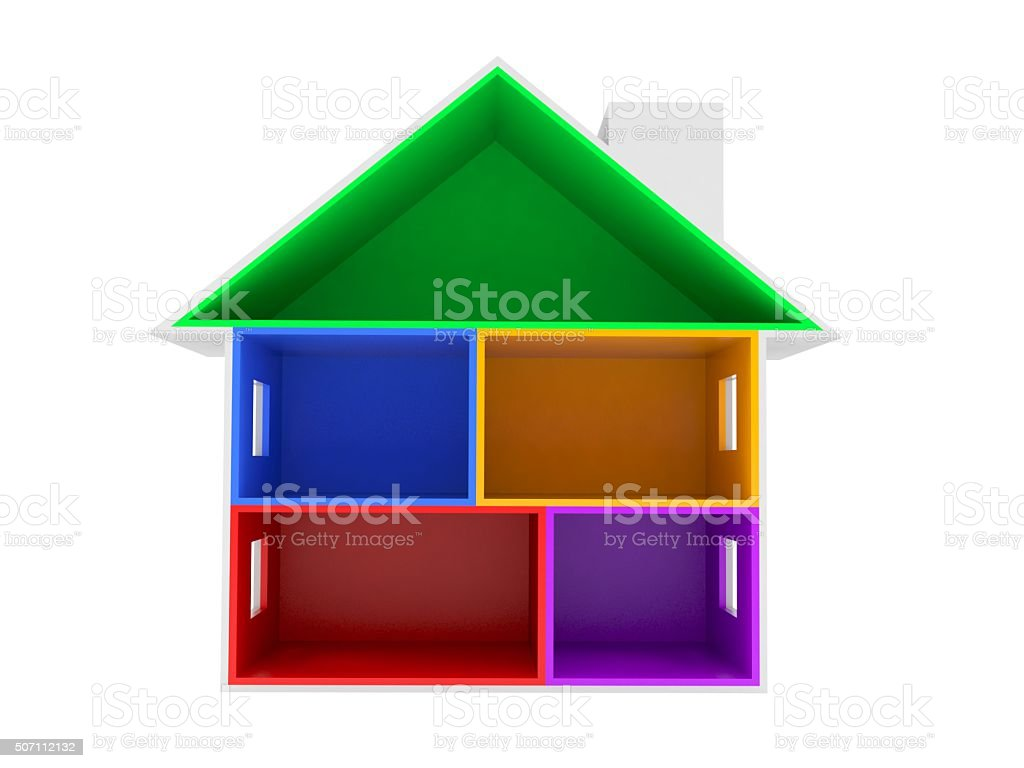 House cross section stock photo