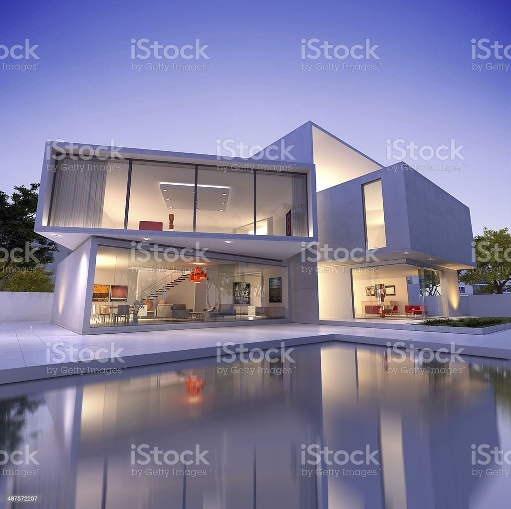House cube B1 deconstruction stock photo