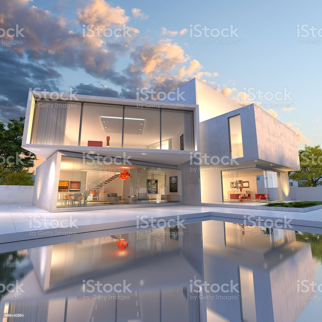 House cube deconstruction stock photo