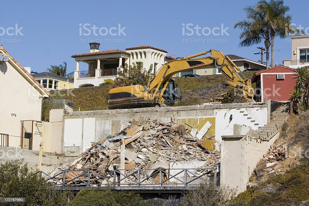 House Demolition royalty-free stock photo