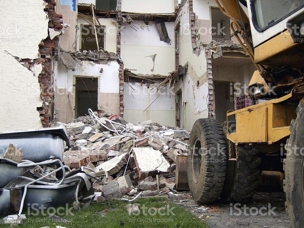 house demolition royalty-free stock photo