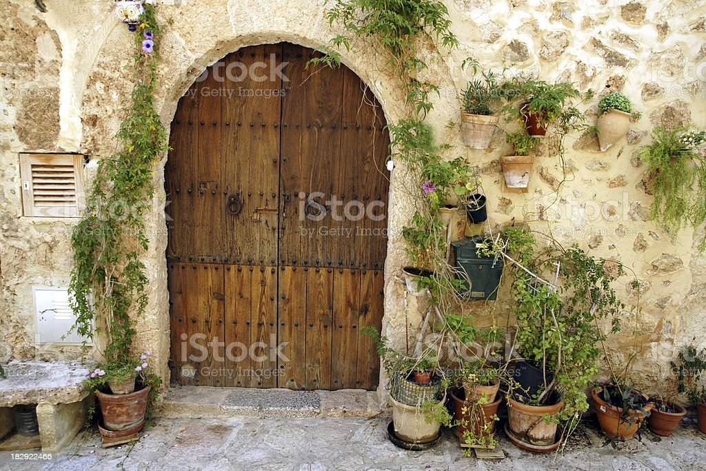 Housedetail in Valldemossa royalty-free stock photo