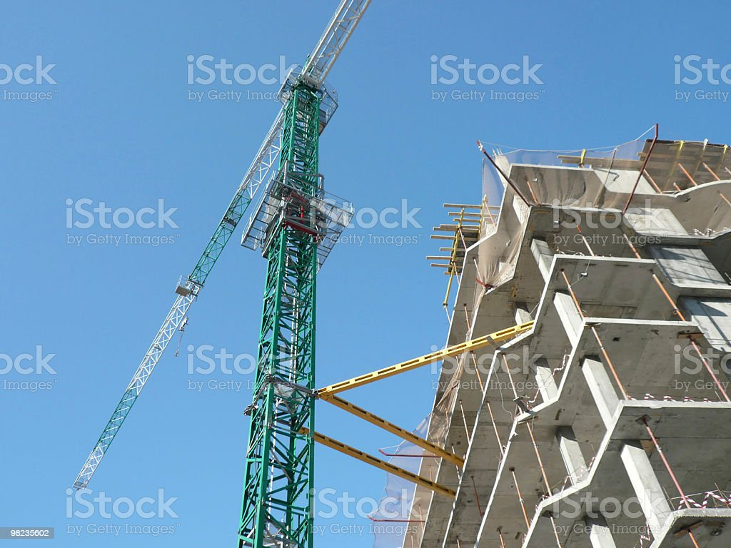 house develop with crane royalty-free stock photo