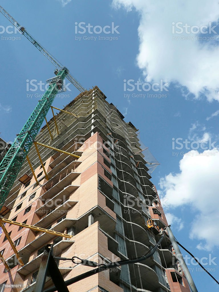 house develop with crane tower royalty-free stock photo
