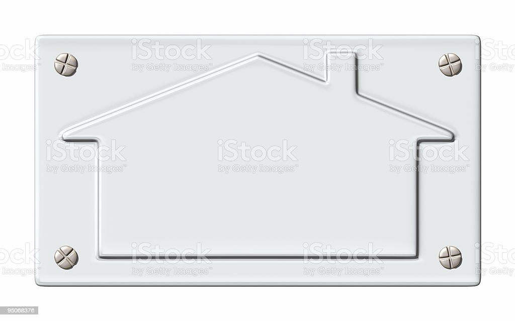 house door-plate royalty-free stock photo