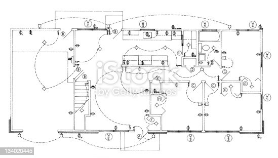House Electrical Plan stock photo 134020445 | iStock
