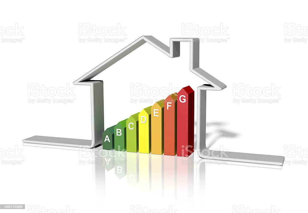 house energetic  3d stock photo