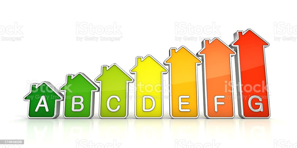 House energy efficiency certification royalty-free stock photo
