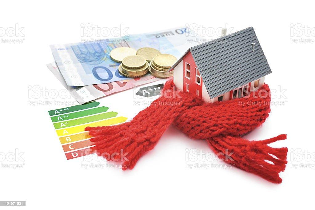 house energy efficiency concept stock photo