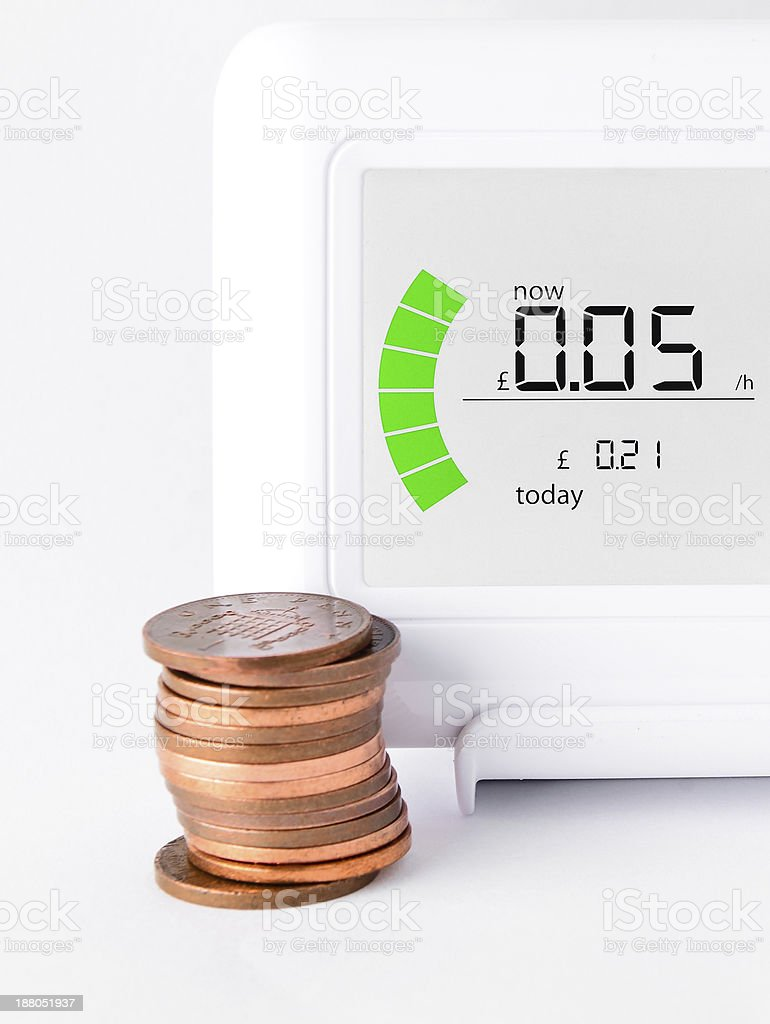 House energy meter royalty-free stock photo