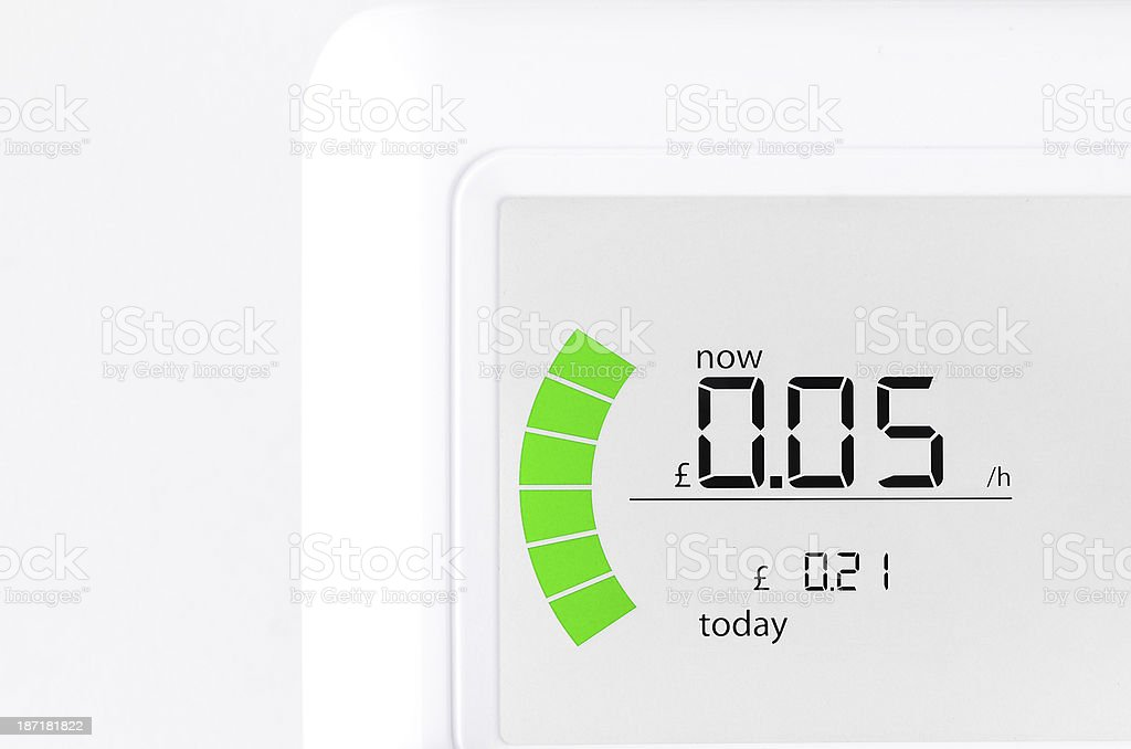 House energy meter showing stock photo