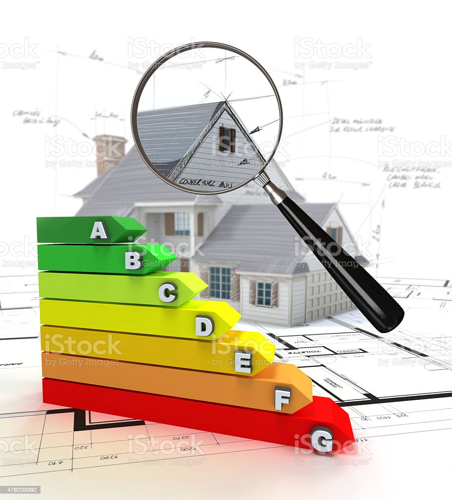 House energy rating stock photo